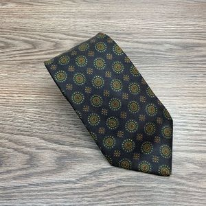 Brooks Brothers Black w/ Green & Navy Check Tie